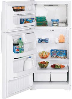 GE GTS16BBSLWW  White Refrigerator with 15.7 cu. ft. Capacity