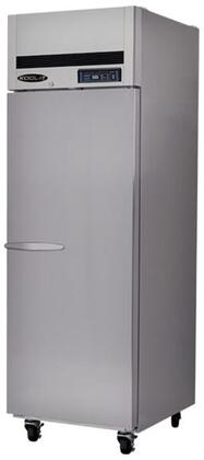 Kool-It KTSFx Doors Freezer with Doors, Shelves, cu. ft. Capacity, HP, LED Interior Lighting, in Stainless Steel