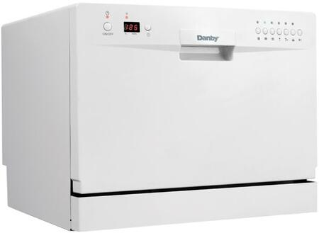 "Danby DDW611WLED 24"" Countertop Full Console Dishwasher with 6 Place Settings Place Settingin White"