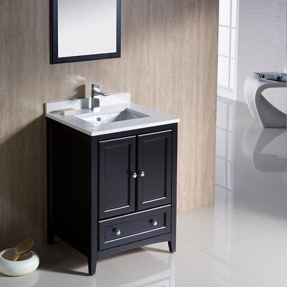 "Fresca Oxford Collection FVN2024 24"" Traditional Bathroom Vanity with 2 Soft Close Doors, Soft Close Dovetail Drawer and Tapered Legs in"