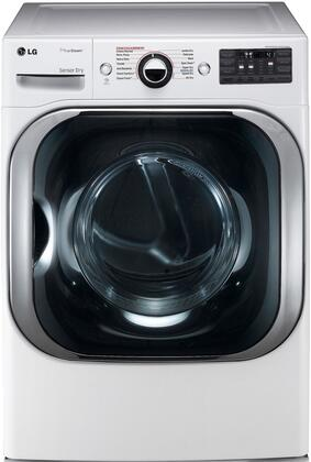"LG DLEX8100 29"" Front Load Mega Capacity Electric Dryer with 9.0 cu. ft. Capacity, 14 Drying Programs, TrueSteam Technology, LoDecibel Quiet Operation, SmartThinq Technology, and Sensor Dry:"