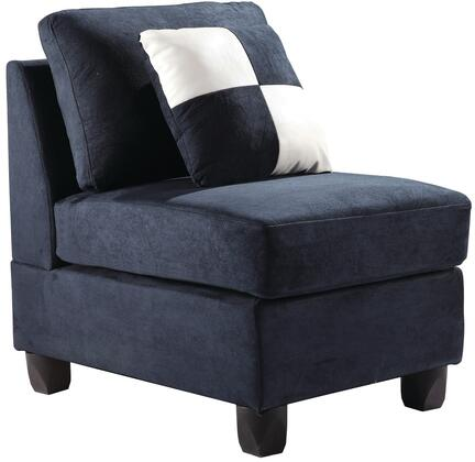 Glory Furniture G630AC Suede  in Navy Blue