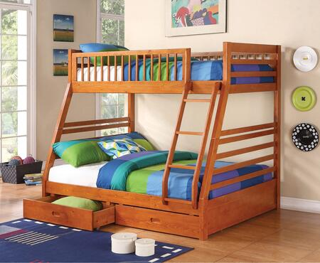 Coaster 460183 Ashton Series  Twin over Full Size Bunk Bed