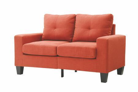 Glory Furniture G473AL Newbury Series Fabric Stationary Loveseat