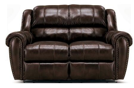 Lane Furniture 21429174597516 Summerlin Series Leather Reclining with Wood Frame Loveseat