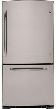 GE GBSL3HCXRLS  Bottom Freezer Refrigerator with 23.2 cu. ft. Capacity in Stainless Steel