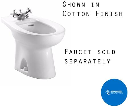 Toto BT500AR Piedmont Series Single-Hole Bidet with Vitreous China Construction and Integral Overflow