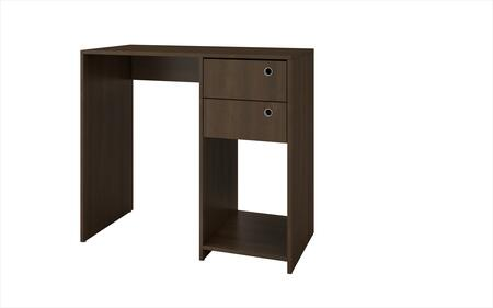 """Accentuations Pescara Collection 37AMCXX 35"""" Double Drawer Desk with 2 Drawers, 1 Open Cubby and Ring Holes in"""