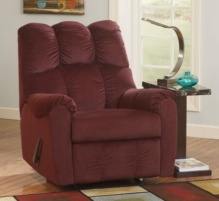 Milo Italia Dayton MI-8333TMP Rocker Recliner with Padded Arms, Deeply Divided Back and Metal Construction in