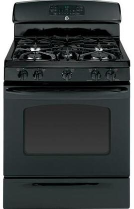 "GE JGB810DETBB 30"" Gas Freestanding Range with Sealed Burner Cooktop, 5.0 cu. ft. Primary Oven Capacity, Storage in Black"