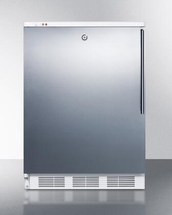 """Summit VT65MLSSHX 24"""" Undercounter Medical Use Freezer with 3.5 cu. ft. Capacity, 3 Removable Storage Baskets, -25 Degrees Capable, and Adjustable Thermostat in Stainless Steel"""