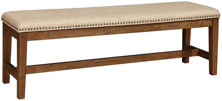Coaster 105683 Arcadia Series Kitchen Armless Wood Fabric Bench