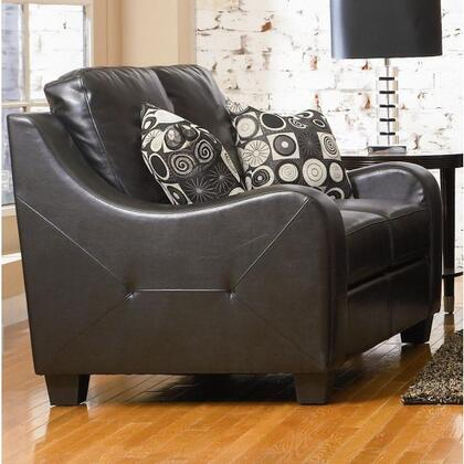 Coaster 502272 Bonded Leather Stationary with Wood Frame Loveseat