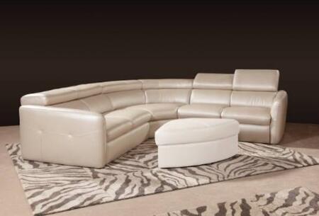 Novo Home 20153PC Avante Series Curved Leather Sofa