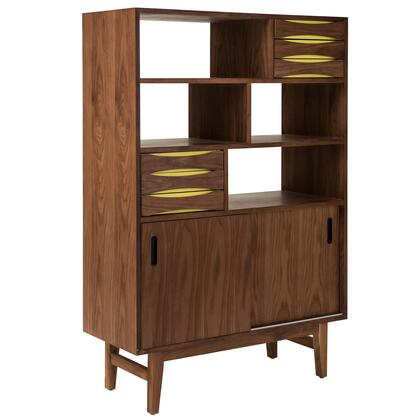 EdgeMod EM166WALYEL APIS Series Veneers 3-4 Shelves Bookcase