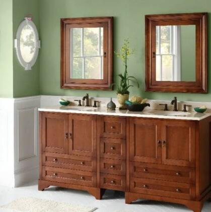Ronbow 3011738D Stone Top for Double Undermount Bathroom Sink:
