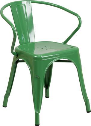 Flash Furniture CH31270GNGG  Metal Frame  Patio Arm Chair