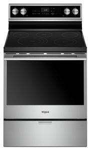 Whirlpool WFEA75H0HX Freestanding Range with 6.4 cu. ft. Capacity, Aqualift Technology, True Convection, Warm Zone and Frozen Zone, in