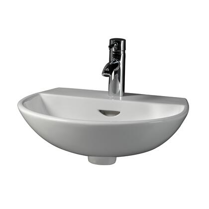 Barclay 4341WH White Wall Mount Sink