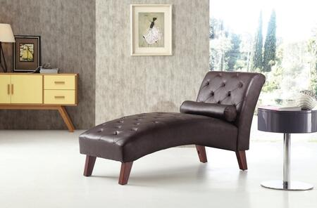 Glory Furniture G237CHS Newbury Series Contemporary Faux Leather Wood Frame Chaise Lounge