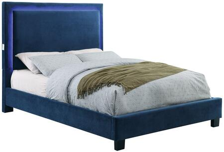 Furniture of America CM7695NVCKBED Erglow I Series  California King Size Bed