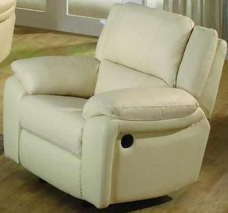 "Yuan Tai BA6636CIV Baxter Series Leather 38"" Chair with Wood Frame in Ivory"