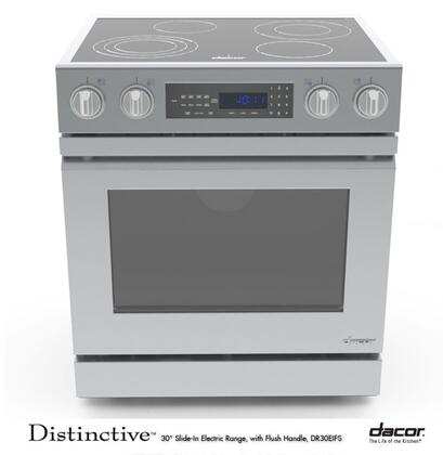 """Dacor DR30EIFS 30"""" Distinctive Series Slide-in Electric Range with Smoothtop Cooktop 4.8 Cu. Ft. Primary Oven Capacity"""