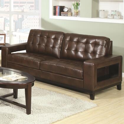 Coaster 504431  Stationary Bonded Leather Sofa