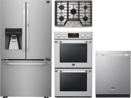 LG Studio 1139174 4 piece Stainless Steel Kitchen Appliances Package