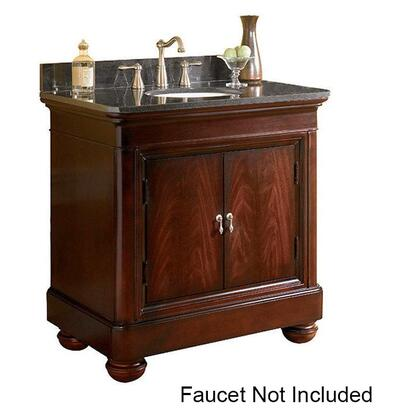 """Kaco Mount Vernon Collection 893-3600 36"""" Vanity with 2 Doors, Bun Feet and Multi-Step Sherwin Williams Finish in Merlot"""
