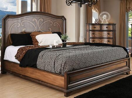 Furniture of America CM7831QBED Emmaline Series  Queen Size Panel Bed