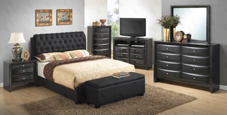Glory Furniture G1500CQBUPCHDMNTVB G1500 Queen Bedroom Sets