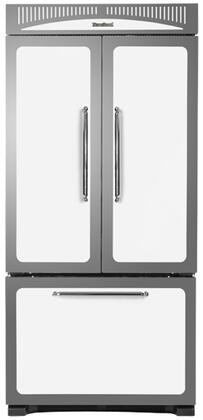 Heartland HCFDR20WHT Classic Series Counter Depth French Door Refrigerator with 19.8 cu. ft. Total Capacity 4 Glass Shelves