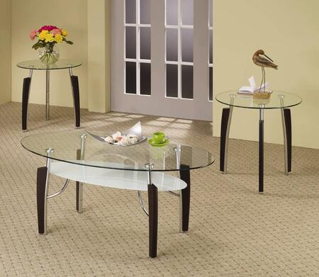 Coaster 701558 Contemporary Living Room Table Set
