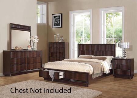 Acme Furniture 20514CK4PCSET Travell California King Bedroom