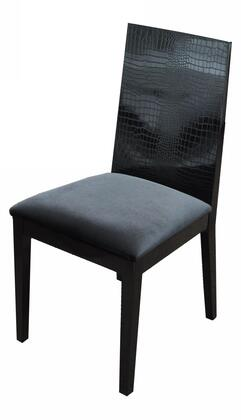 VIG Furniture VGUN0062BLK A & X Bridget Series Modern Fabric Wood Frame Dining Room Chair