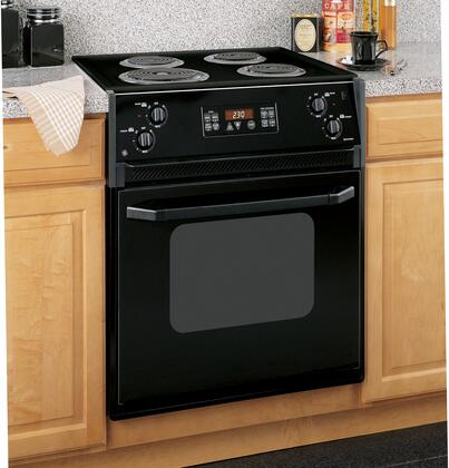 GE JMP31BLBB  Slide-in Electric Range with Coil Cooktop 3 cu. ft. Primary Oven Capacity