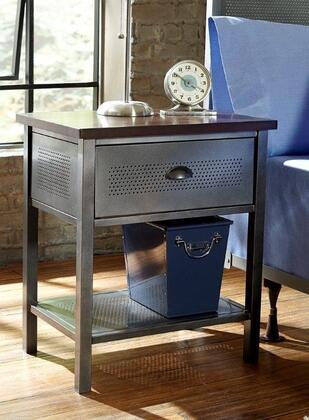 Hillsdale Furniture 1265771R Urban Quarters Series Rectangular Metal Night Stand