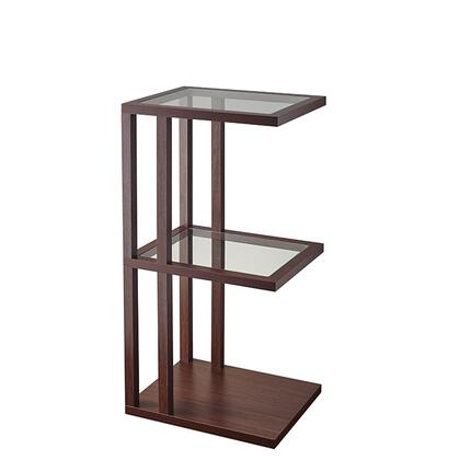 Adesso AR351X15 Baxter End Table, Walnut Wood Finish