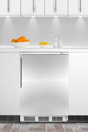 "Summit VT65MBISSHV24"" Built In Upright Counter Depth Freezer"
