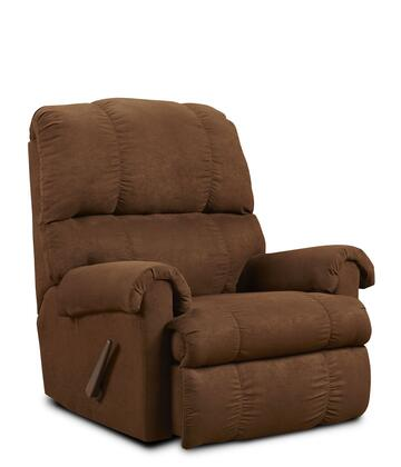 Chelsea Home Furniture 8700 Grace Rocker Recliner with Polyester Upholstery, Sewn Pillow Cushions, No Sag Steel Springs, Kiln Dried and Hardwood Crafted in