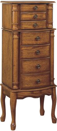 Powell 315 Jewelry Armoire with Black Lining
