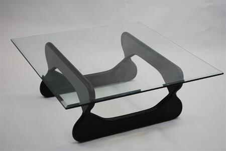 Fine Mod Imports FMI8005BLACK Glass Modern Table
