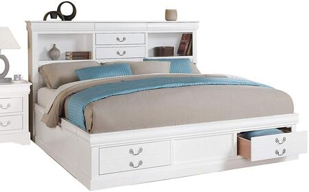 Acme Furniture 24490Q Louis Philippe III Series  Queen Size Storage Bed