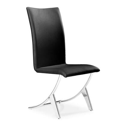 """Zuo 10210X Delfin 39"""" Dining Height with Stainless Steel Legs and Leatherette Upholstery"""
