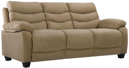 """Glory Furniture 77"""" Sofa with Removable Back, Tapered Block Legs, Pub Back, Plush Padded Arms and Micro Suede Upholstery"""