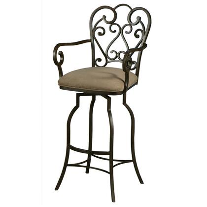 Pastel Furniture QLMA21723 Magnolia 30 in. Bar Height Swivel Barstool With Arms