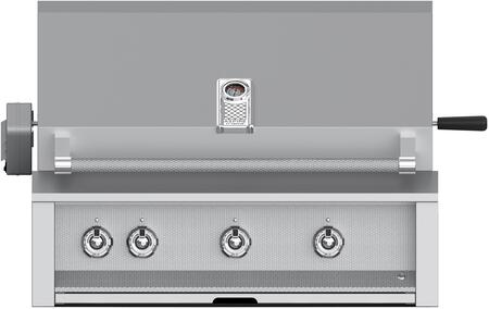 """Hestan EABR3x 36"""" Built-In Gas Grill with 3 Stainless Burners, 647 sq. in. Cooking Surface, Warming Rack, and Rotisserie, in"""