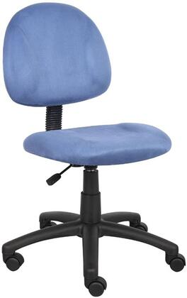"Boss B325 35"" Microfiber Deluxe Posture Chair, Thick Padded Seat and Back, Waterfall Seat, Adjustable Back Depth, Seat Height Adjustment and 5 Star Nylon Base"