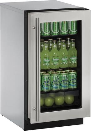 """U-Line U2218RGLx00B 18"""" Energy Star Certified Built-in Compact Refrigerator with 3.6 cu. ft. Capacity, 4 Adjustable Glass Shelves, Glass Door, LED Lighting, Convection Cooling System, Clear Crisper Drawer and Star K Certified, in"""